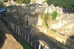 Looking down on Herculaneum