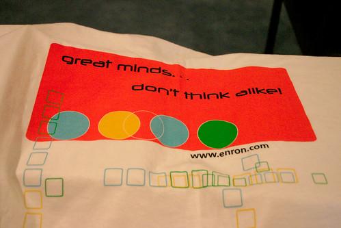 The Enron Shirt: Back
