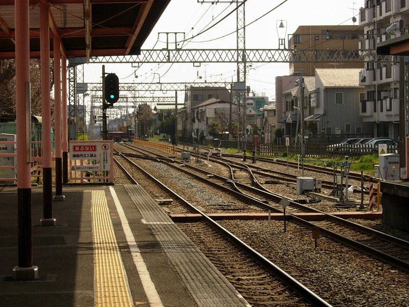 view from Sakuragaoka train station