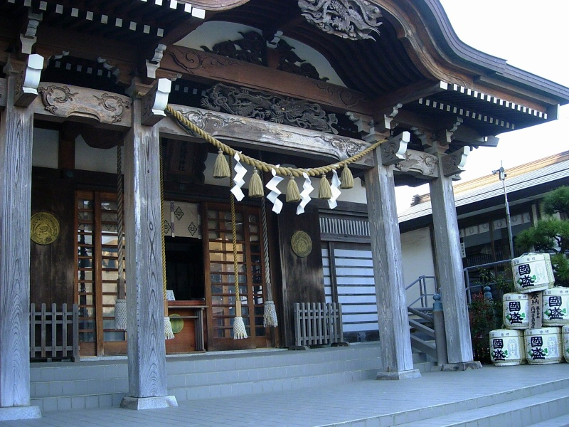 One od Kawasaki's many shrines.
