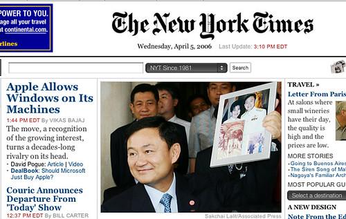 NY Times Headline - Apple does Windows