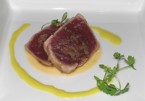 Amuse gueule: Seared Bigeye Tuna