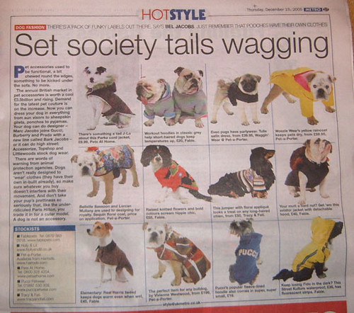Dog Coats in Metro Newspaper