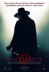"Nuevo póster de ""V de Vendetta""."
