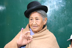 Localwoman after voting in today´s presidential election in La Paz, Bolivia.