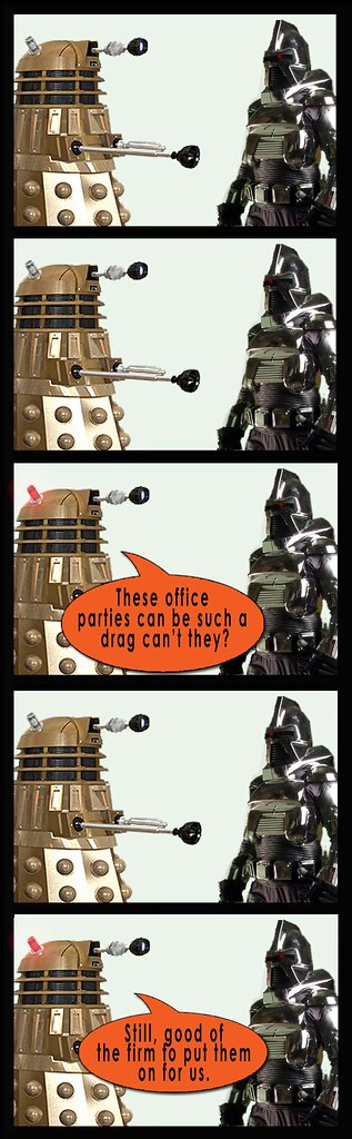 Dalek and Cylon party 2