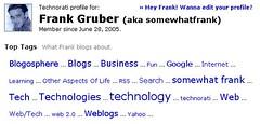 Technorati Blog Cloud