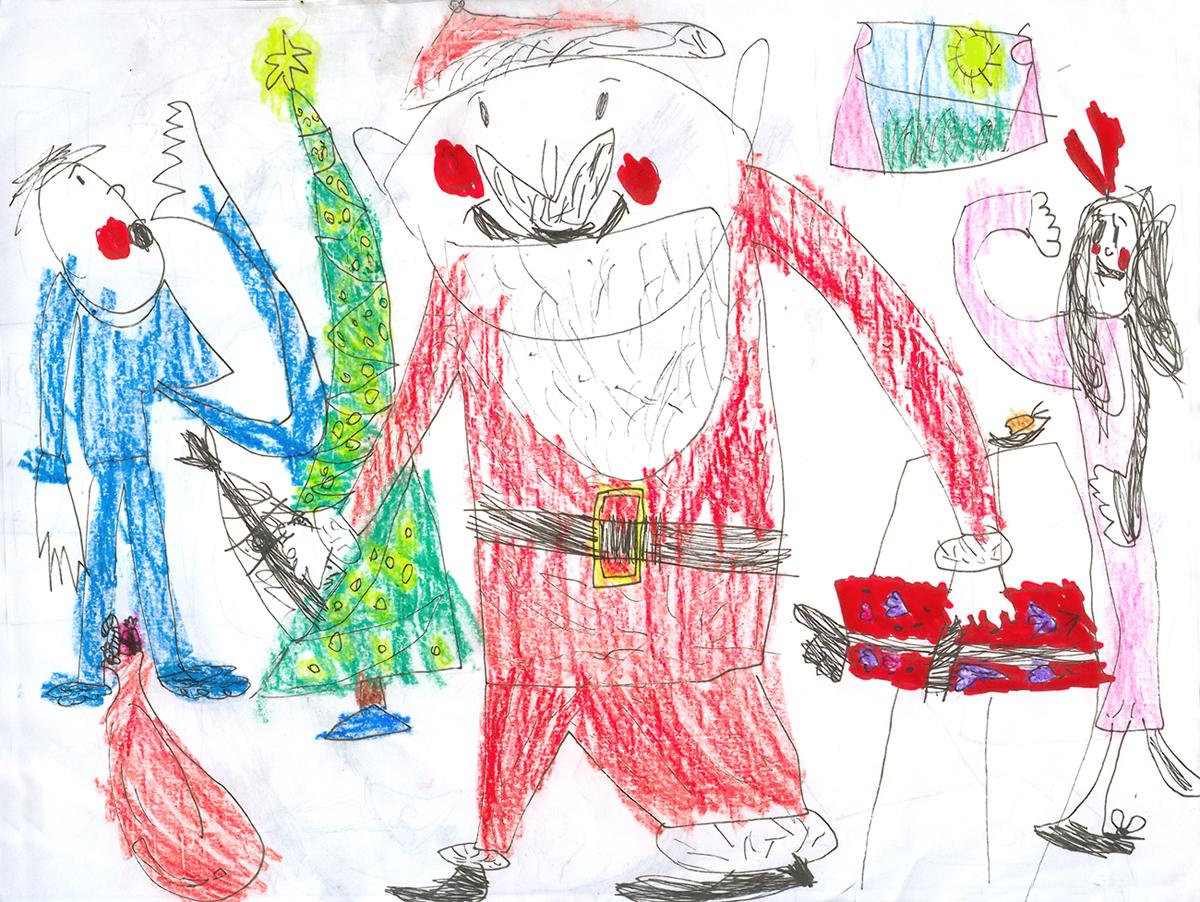 Christmas Scene Drawing For Kids.The Ward O Matic Ava Thursday Merry Christmas