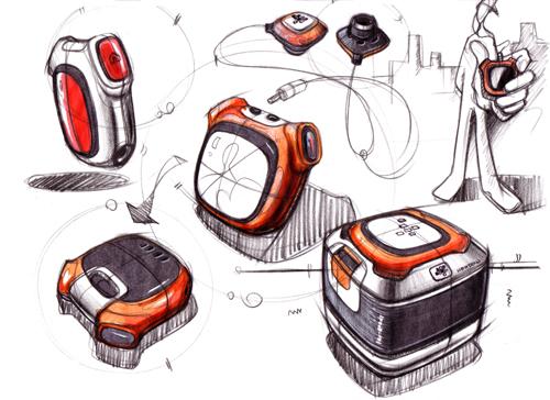 马克笔+彩铅产品手绘图经典步骤教程