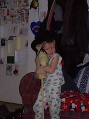 stick horse hug