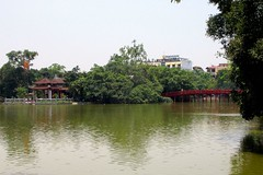 Ben Ngoc Son and Huc Bridge