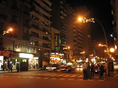 Night scene in Buenos Aires