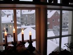 Snö den 27e liten