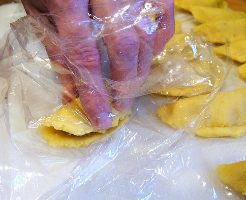 Colombian Empanadas: Step 16 - Formation: Step 2: Wrap process