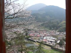 Tsuwano depuis le chemin qui mêne au temple dans la montagne
