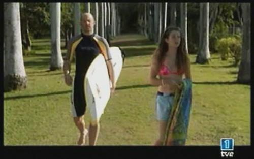 El doctor Mark Greene paseando con su hija, antes de un ataque...