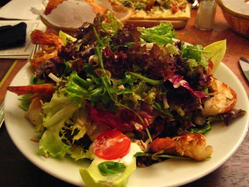 葉っぱ多目のサラダ