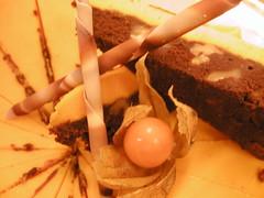 Chocolate & Saffron truffle  cake