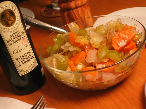 Cold Vegetable Salad with Balsamic Vinegar