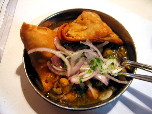 Samosa Chole - Rs 12 - 25cents