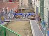 Graffitis en el polígono del Valle