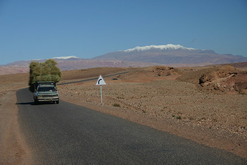 Does this road sign ever come in handy? Near Aït Benhaddou, Morocco
