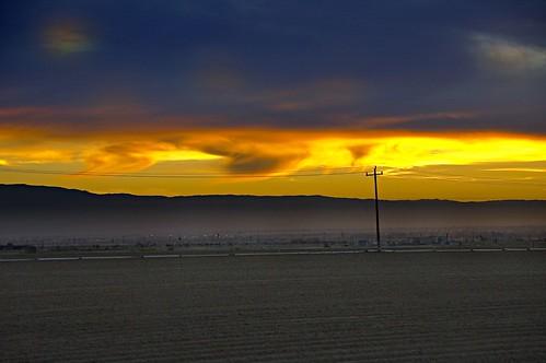 Sunset near Bakersfield 1