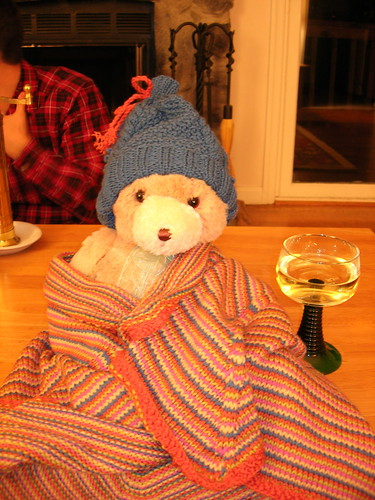 The bear, the blankie, and the bobble hat