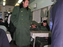 Train to Ping Yao - Soldiers in the Dining Car