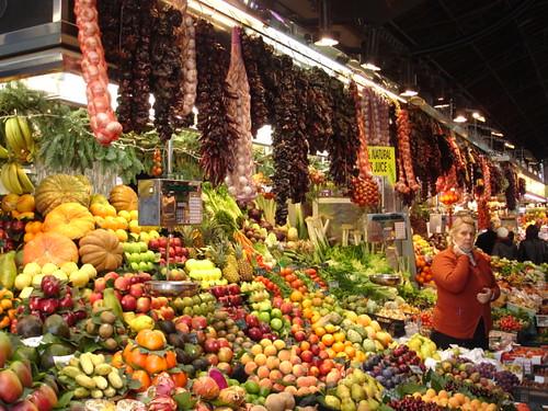 Inside the massive covered market - la Boqueira