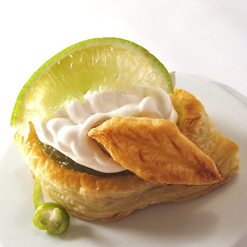 Lime Curd Whipped Cream Puff Pastry