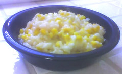 recipe: creamy corn and garlic risotto