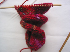 Curlycue Scarf - in progress