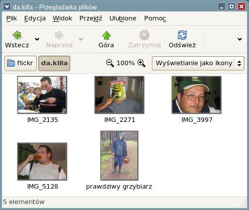 Nautilus pokazuje zdjęcia z flickr.com dzięki gnickr!