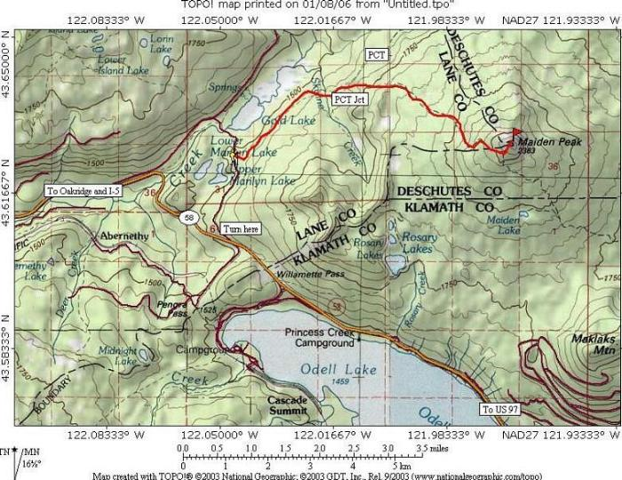 Maiden Peak OR  Climbing Hiking  Mountaineering  SummitPost