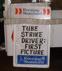 Tube Strike - Northern Line Driver -  Evening Standard bill board