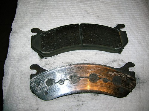 Worn brake pad... - Chief Delphi