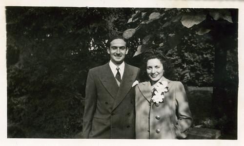 Jack Kraft and Sara Miller, October 1945