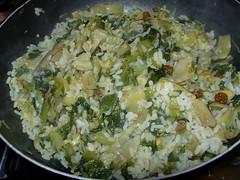 Timballo di riso carciofi e scarola