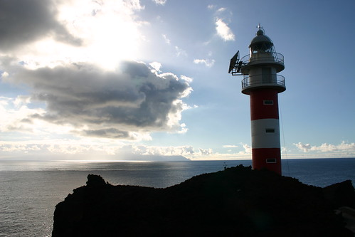 Lighthouse at Teno. Great views of neighbouring island La Gomera
