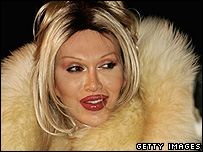 Pete Burns in Fur Coat