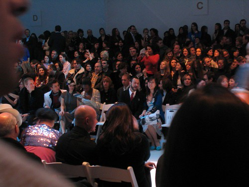 At Project Runway Fashion Week, February 10, Bryant Park