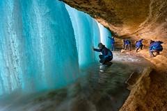 Explore the Frozen Minnehaha Falls photo by Yanbing Shi