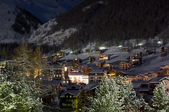 Saas-Fee Village Centre at Night (Explored) photo by mjw...