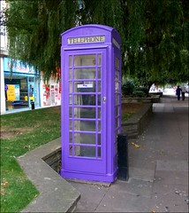 Purple Phone Kiosk .. photo by ** Janets Photos **