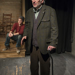 Patrick Clear (Joe) and Rob Fenton (Kevin) in PORT AUTHORITY at Writers Theatre. Photo by Michael Brosilow.