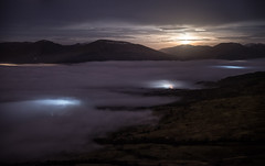 Moonset photo by Bryan Harkin