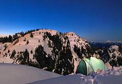 Tim Jones Peak, by moonlight photo by Christopher J. Morley