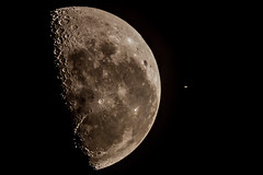 Occultation of Saturn by the Moon photo by Momentary-Lapse