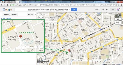 臺中市南區五權南路100號 - Google 地圖 - Google Chrome 201415 下午 094639
